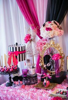Gorgeous boutique tea party birthday party! See more party ideas at CatchMyParty.com!