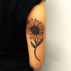 Sunflower tattoo by @rsdtattoos