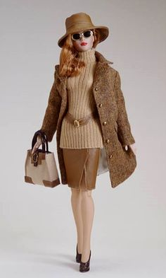 """Manufacturer's catalog image of 16"""" Champagne & Caviar Tyler Wentworth doll wearing separate City Tweeds outfit, made in an edition of 1,500 pieces, United States, 2002, by Robert Tonner."""