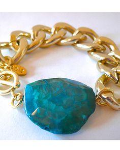 The Chunky Agate Bracelet by JewelMint.com, $35.00