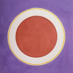 """Kenneth Noland - Earthen Bound, 1960, Acrylic on canvas, 103-1/2 x 103-1/2"""", Collection of the artist"""