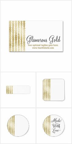 Glamorous Gold on @zazzle  #Glam #Business #Branding #Printable #Marketing #Stickers #Labels #Cards #Custom #Personalized #Gold #Trendy #Zazzle