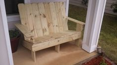 2 seater diy Adirondack chair for less than $30