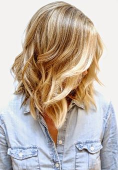 blonde ombre, more hightlights at the front