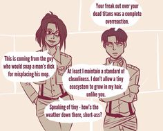 LeviHan part 1 I love how their argument flows conveniently
