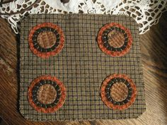 Primitive Check and Plaid Penny Rug FAAP by annieshandmadedecor