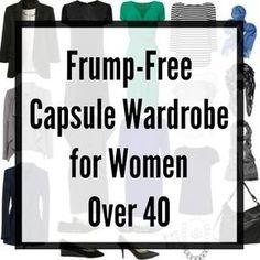 capsule wardrobe over 40 over 50 #CapsuleWardrobe