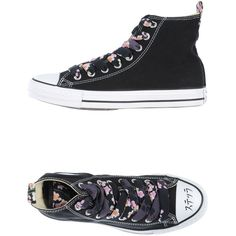 Converse Limited Edition Sneakers ($101) ❤ liked on Polyvore featuring shoes, sneakers, black, slipon shoes, kohl shoes, rubber sole shoes, black slip-on shoes and black slip on sneakers