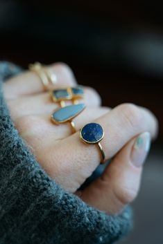 Lidia Ring | Botswana Agate | 18k Gold Plating | Janna Conner https://www.jannaconner.com/collections/jewelry/products/55300236e4b0be7f99a8e653 #jannaconner #ring #stackingring #botswanaagate #agate #ringstacks #nailart
