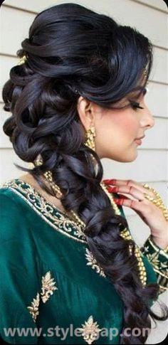 16 trendy wedding hairstyles indian bridal parties - New Site, . - 16 trendy wedding hairstyles indian bridal parties - New Site, - Wedding Hairstyles For Long Hair, Party Hairstyles, Wedding Hair And Makeup, Trendy Hairstyles, Braided Hairstyles, Hair Wedding, Indian Hairstyles, Dress Wedding, Wedding Braids