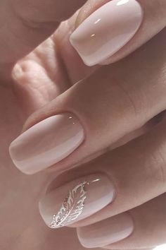 Classy Nails, Stylish Nails, Simple Nails, Trendy Nails, Cute Nails, Bridal Nails Designs, Bridal Nail Art, Blush Nails, Pink Nails