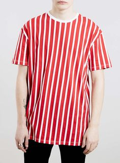 T-shirt rouge et blanc rayé