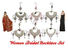 Women Bridal Necklace Set by mogul-interior on Polyvore featuring Weise and modern