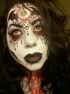 Witch Face Paint, Halloween Face Makeup, Fun, Painting, Make Up, Painting Art, Paintings, Painted Canvas, Drawings