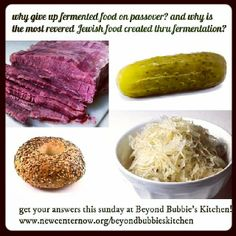 learn about the connections between Jewish food & this sunday at Beyond Bubbie's Kitchen where I'll be chattin. Fermentation Crock, Jewish Food, Jewish Recipes, Preserves, Cabbage, Sunday, Foods, Vegetables, Lifestyle