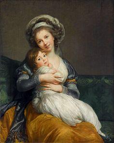 Elisabeth Louise Vigee Le Brun 'Portrait de l'artiste avec sa fille, dit « La Tendresse maternelle »', 1786 - Una gran pintora en el siglo XVIII francés - 20minutos.es