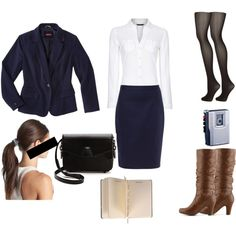 """""""Anastasia Steele: Interview Outfit."""" by ho-neyvi on Polyvore"""