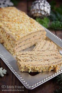 prajitura-cu-ness-si-nuca-1 Sweets Recipes, No Bake Desserts, Delicious Desserts, Cake Recipes, Yummy Food, Romanian Desserts, Romanian Food, Sweet Tarts, Pie Dessert