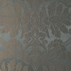 Luciano Silk Damask | 60422 in Azurro | Schumacher Fabric