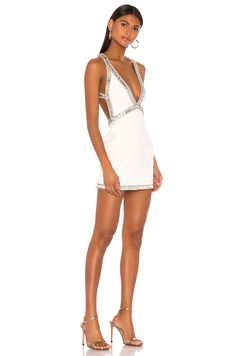 Shop for NBD Tavi Dress in White & Silver at REVOLVE. Simple Dresses, Sexy Dresses, Short Dresses, Fiesta Outfit, Party Fashion, Steampunk Fashion, Gothic Fashion, Gossip Girl Fashion, Night Out Outfit
