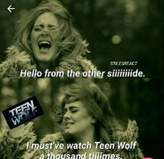 Teen wolf me when i come out of my room for food and see my family.