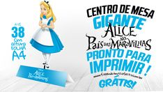 Centro de Mesa Alice no País das Maravilhas Grátis Alice In Wonderland Printables, Holidays And Events, Candy, Bar, Simple Desk, Panda Party, Party Kit, Industrial Kids Decor, Ideas Party
