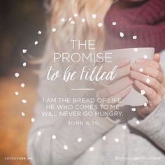 Day 11 - The Promise to be Filled // I am the bread of life. He who comes to Me will never go hungry. John 6:35 // 25 Days of Christmas Promises #incourageChristmas by incourage