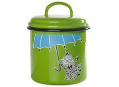 Muumi Emalipurkki / Moomin Enamel Jar, Little My Green #Muurla