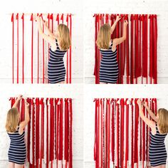 Make This Instagram-Worthy Photo Booth Backdrop for Your 4th of July Party via Brit + Co.