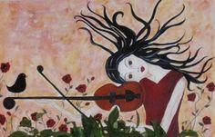 Violin Girl - Art by Kim Wilkowich