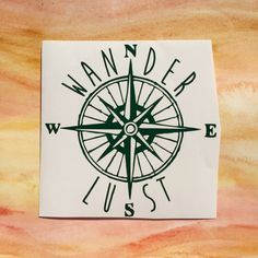 Wanderlust traveler compass map vinyl decal by GoldCoastDecals