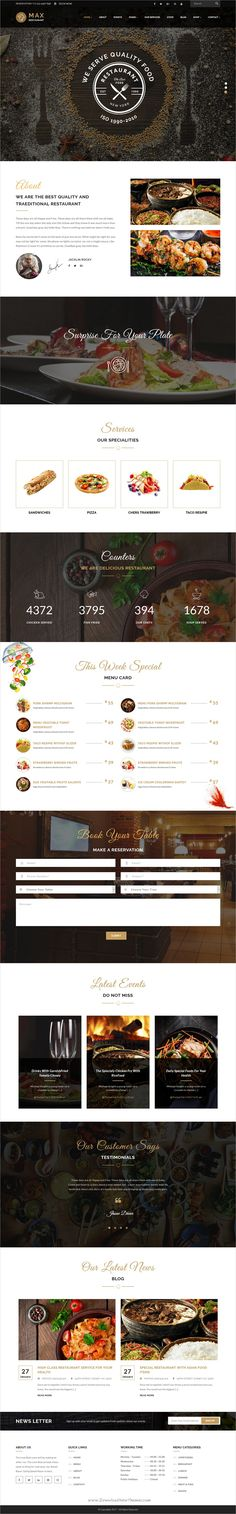 Restaurant is clean and modern design responsive #WordPress theme for #cafe, #restaurant and food business website download now➩ https://themeforest.net/item/restaurant-responsive-wordpress-theme/19641055?ref=Datasata