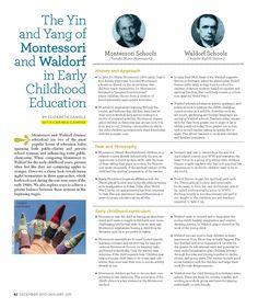 A comparison between Waldorf and Montessori