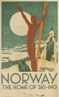 TRYGVE M. DAVIDSEN   NORWAY, THE HOME OF SKI-ING   c.1926