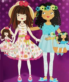 spring illustrations for Dollie and Me showroom