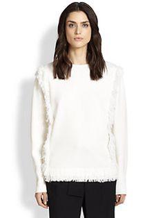 Chloe - Fringe-Trimmed Wool Sweater