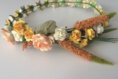 Easter crown, flower girl crown, cute and fun spring crown, field flowers headband, yellow toddler headband, wedding headband by Nostalljia on Etsy https://www.etsy.com/listing/511587729/easter-crown-flower-girl-crown-cute-and