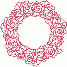 Silhouette Design Store: roses wreath filigree