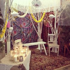 a vintage bohemian themed birthday party today at hello deer : the photobooth ✨ - @ilovehellodeer- #webstagram