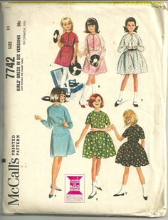Sewing pattern...note the 45s and the record player