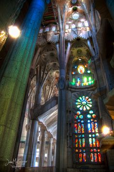 """handa:  500px: - La Sagrada Familia - Internal by Giovanni Di Gregorio  """