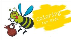 Coloring Pages For Kids With Cartoon Bee Coloring Book - Pi n Mo