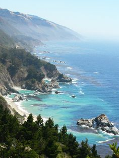 Big Sur, California I WILL be going here soon, seeing as the bro lives in Cali now and all. Yay!!!