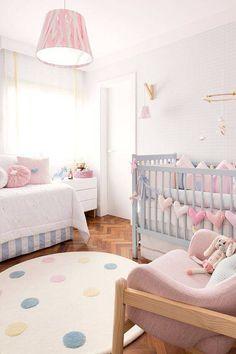 tapetes para quarto de bebe rosa