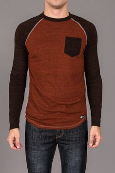Venley The Port Pocket L/S Raglan $19.99 Color: TEXAS ORANGE
