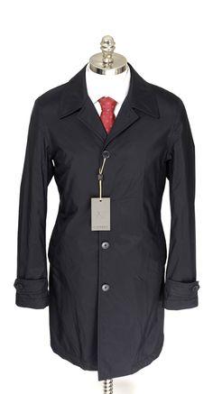 CANALI Solid Navy Rain Wind Tech Resistant 5Btn Car Coat  |  Go Shopping! http://www.frieschskys.com/outerwear  |  #frieschskys #mensfashion #fashion #mensstyle #style #moda #menswear #dapper #stylish #MadeInItaly #Italy #couture #highfashion #designer #shopping