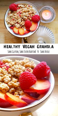 Granola House for everyone! Greedy, vegan, gluten intolerant, healthy addict or sporty, here is a quick and easy breakfast! Breakfast Crockpot Recipes, Healthy Cookie Recipes, Egg Recipes For Breakfast, Healthy Breakfast Smoothies, Vegan Smoothies, Healthy Cookies, Best Breakfast, Vegan Recipes, Vegan Ideas