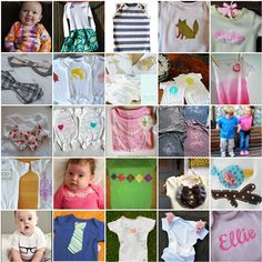 The DIY onesie is a crafty mama dream. A quick and inexpensive project with a high pay-off of cuteness. There are so many ways to personalize a onesie from applique to stencils to iron-ons… and even bleach! Here are 25 adorable FREE DIY onesie projects. {Baby Gift Idea}{Craft Idea} {Baby Shower}