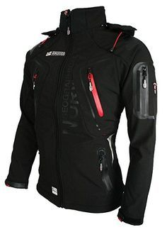 GEOGRAPHICAL NORWAY - giacca softshell giacca funzione resistente all' acqua Black - Black Small