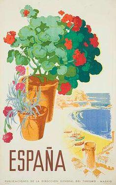 Vintage Espana poster